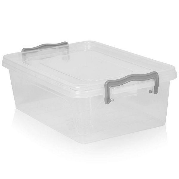 Clear Plastic Clip Lid Bread Roll Container